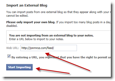 facebook-notes-import-rss-feed